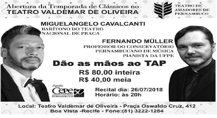 Amanhã: Temporada de clássicos No Teatro Valdemar de oliveira