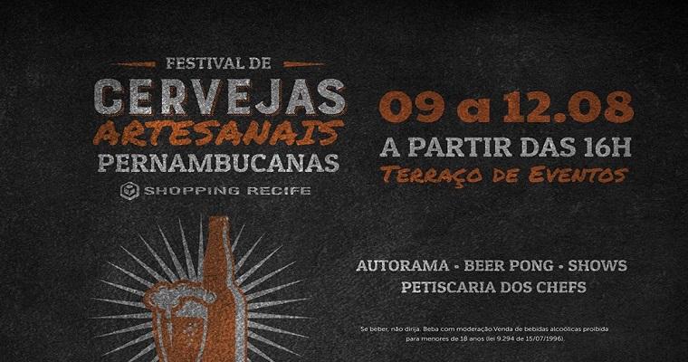 Shopping Recife promove Festival de Cervejas Pernambucanas