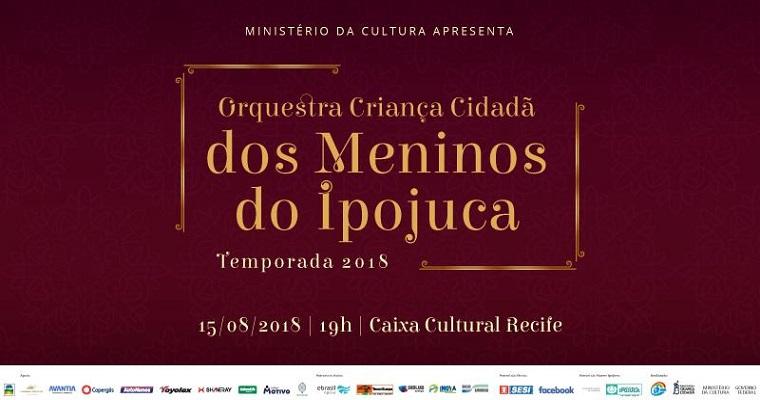 Orquestra Criança Cidadã dos Meninos do Ipojuca na Caixa Cultural