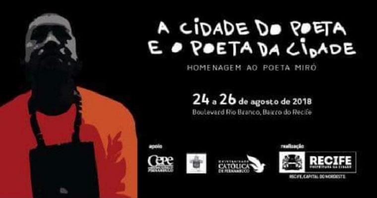 Festival de literatura recifense tem início no próximo dia 24