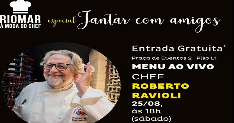 Jantar com Amigos recebe Jimmy Ogro  e Roberto Ravioli