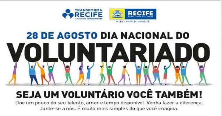 Dia nacional do Voluntariado: Transforma Recife  promove ação