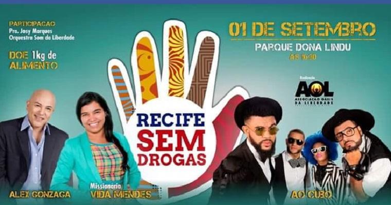 Grupo Ao Cubo é uma das atrações do show Recife sem drogas