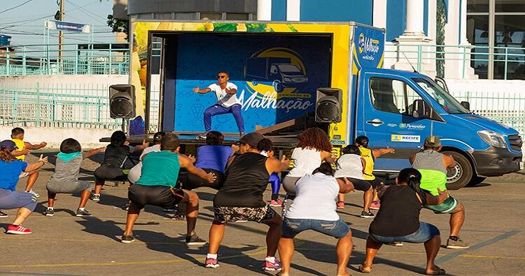 Caminhão da malhação: população de Recife está mais saudável