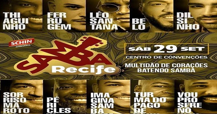 Um dos maiores eventos de música: Samba Recife  acontece este mês