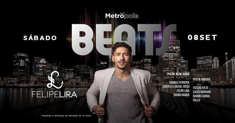 Dj Felipe Lira se apresenta no Club Metrópole