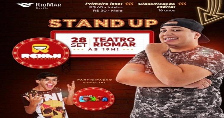 Renan da Resenha apresenta Stand Up Comedy no Teatro RioMar Recife