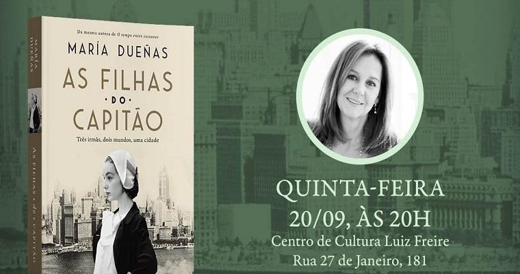 Escritora espanhola Maria Dueñas lança novo livro em Olinda