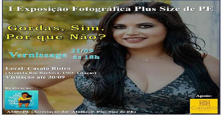 Recife recebe a I Exposição Fotográfica Plus Size de Pernambuco
