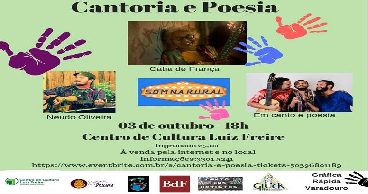 Cátia de França apresenta 'Cátia Cantoria e Poesia' em Olinda