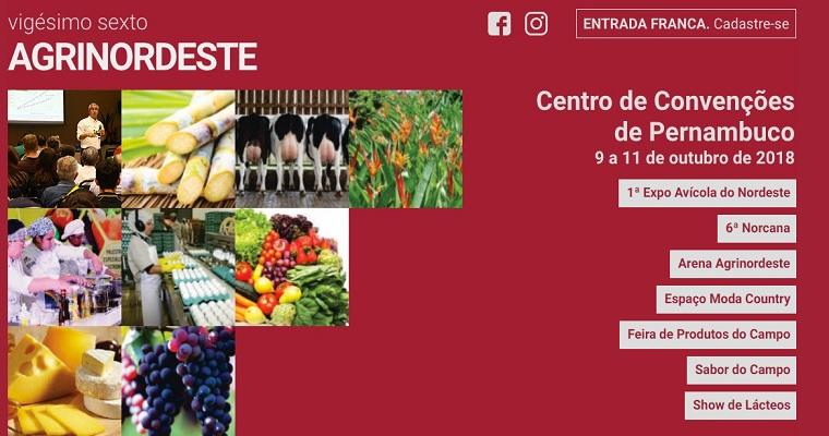 Nova edição do Agrinordeste será realizada no Centro de Convenções