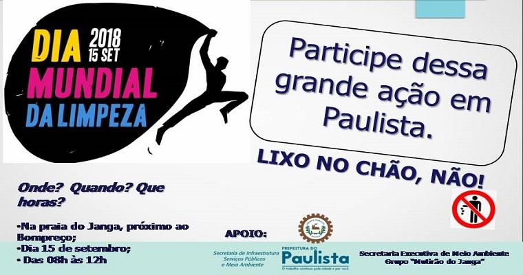 Dia mundial da limpeza:  mutirões acontecerão em Recife