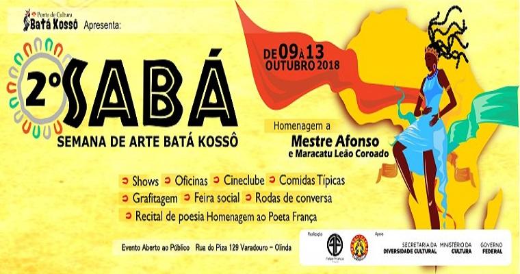 2ª Edição da Semana de Artes Batá Kossô – Sabá