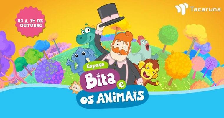 Dia das Crianças: circuito 'Bita e os Animais' no Shopping Tacaruna