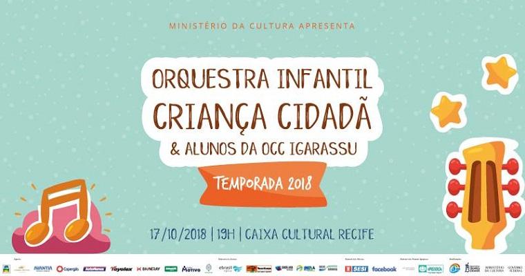 Orquestra Criança Cidadã faz concerto especial para as crianças