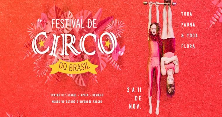 Festival de circo será realizado entre os dias 2 e 11 de novembro