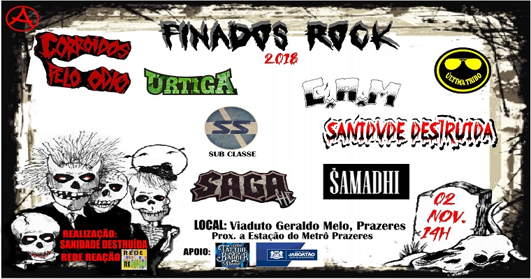 Finados Rock 2018 anima o feriado nesta sexta- feira (2)