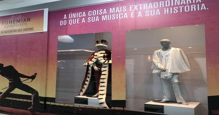 Shopping Tacaruna organizou exposição em homenagem a banda Queen