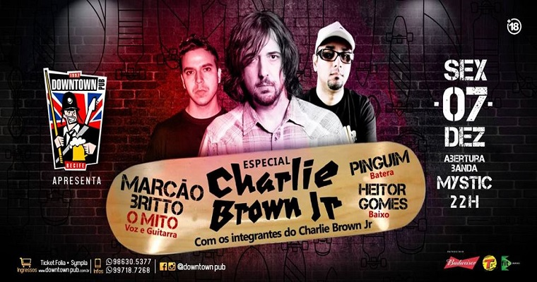 Ex- integrantes do Charlie Brown Jr se reúnem em show no Recife