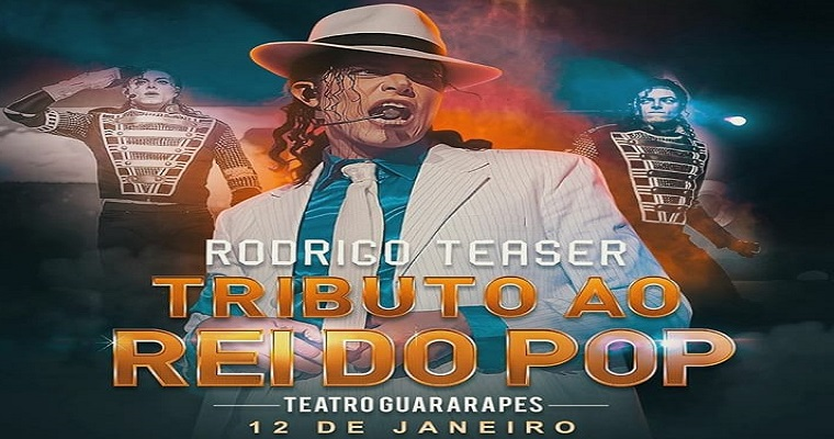 Rodrigo Teaser trará show 'Tributo ao Rei do Pop' para Recife