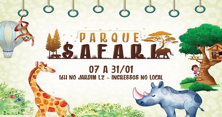 Parque Safari é uma das atrações para as crianças no Plaza Shopping