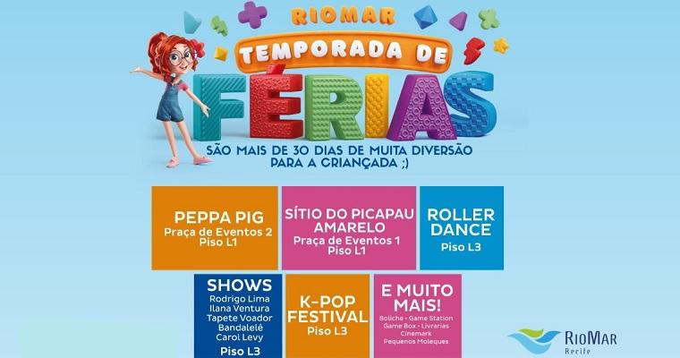 Shopping RioMar Recife realiza temporada de férias