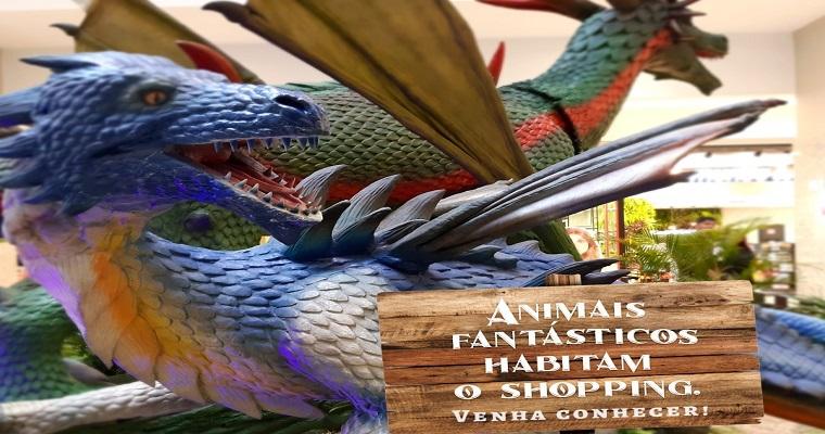 Shopping Patteo Olinda promove  exposição com dragões gigantes
