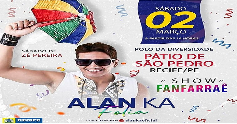 Alan Ka leva show 'Fanfarrâe' para o Pátio de São Pedro