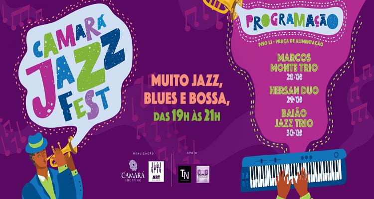 Festival de jazz do Camará Shopping tem início nesta quinta-feira (28)