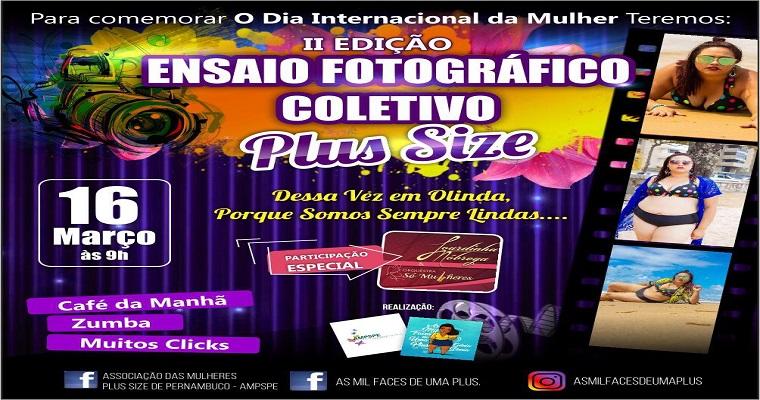 Ensaio Fotográfico Coletivo Plus Size acontece sábado em Olinda