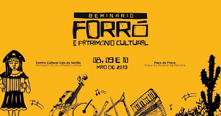 Seminário sobre o forró acontece entre 8 e 10 de maio no Recife