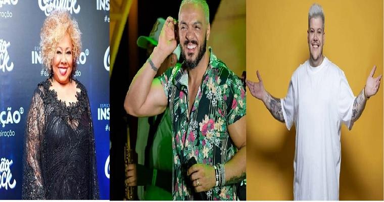 Samba: Alcione, Belo e Ferrugem fazem show juntos no Recife