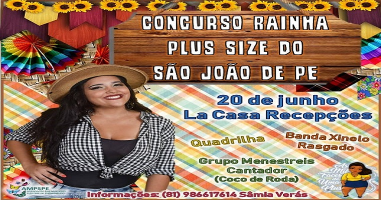 Concurso Rainha Plus Size será realizado dia 20 de junho