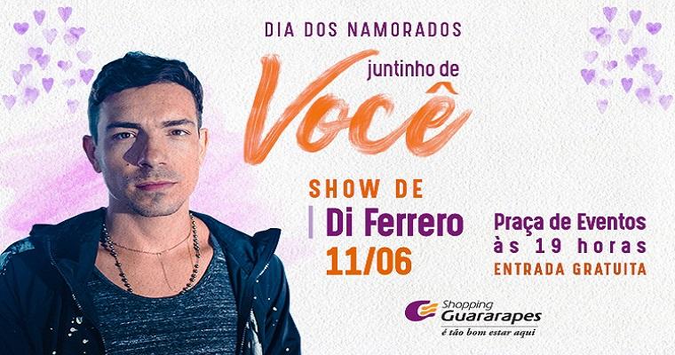 Di Ferrero faz show gratuito no Shopping Guararapes nesta terça