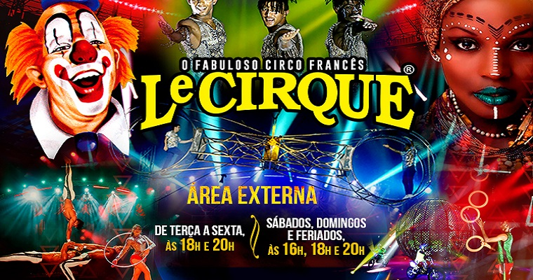 Le Cirque realiza apresentações no shopping Guararapes