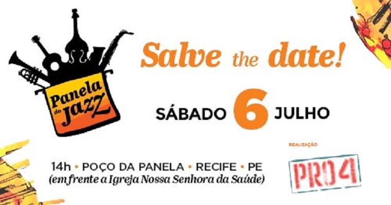 Segunda edição do 'Panela do Jazz' acontece no próximo sábado (6)