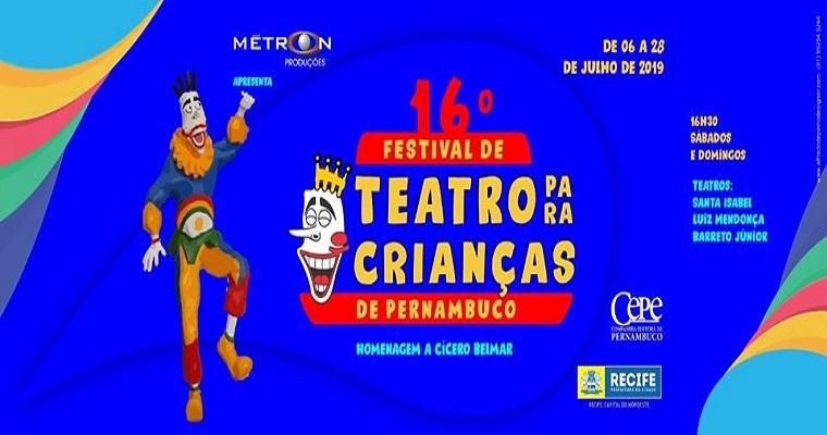 16º Festival de Teatro para Crianças de Pernambuco tem inicio neste sábado