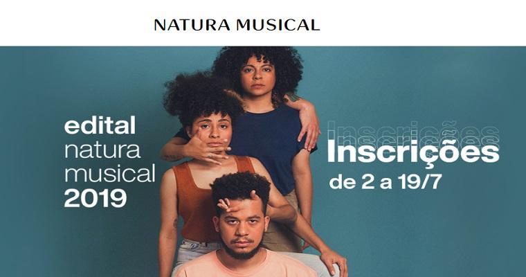 Inscrições para edital Natura Musical 2019 têm início nesta terça