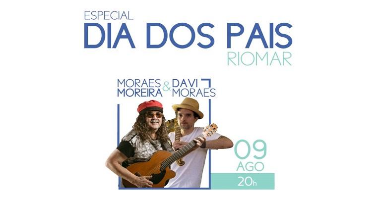 Davi e Moraes Moreira  comemoram o Dia dos Pais no RioMar