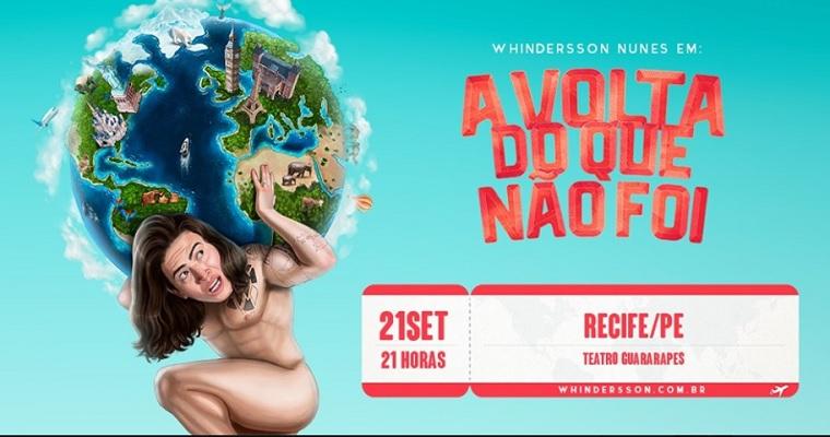 Whindersson Nunes apresenta 'A volta do que não foi' em Recife