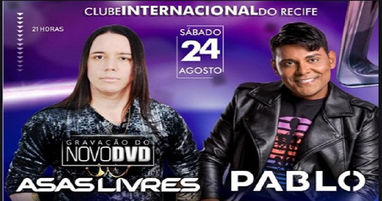 Gravação do DVD de Asas Livres será realizada no Clube Internacional