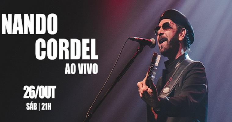 Nando Cordel traz o espetáculo 'Nando Cordel Ao Vivo' para Recife