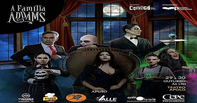 Musical 'A Família Addams' entra em cartaz no Recife
