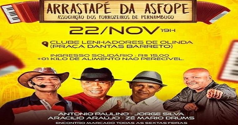 'Arrastapé da Asfope' anima as sextas-feiras em Olinda
