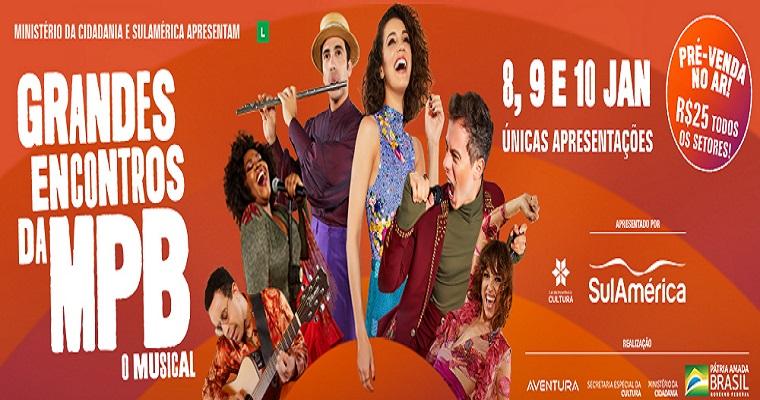 Musical 'Grandes Encontros da MPB' chega ao Teatro RioMar Recife