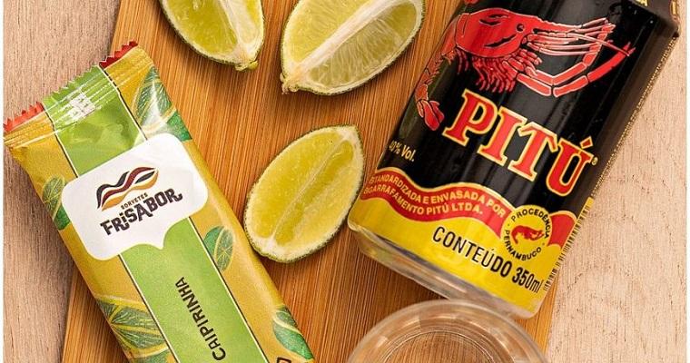 Picolé de caipirinha é fruto da parceria entre Pitu e Frisabor