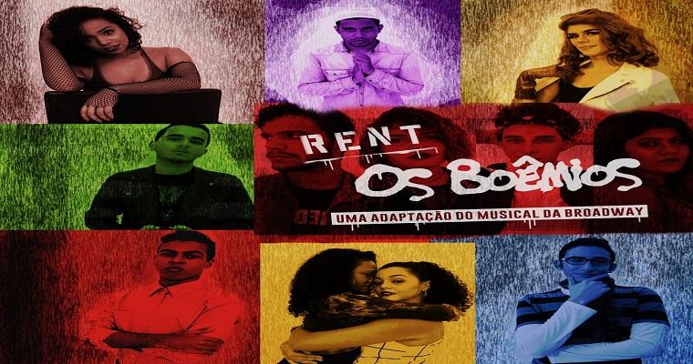 'Rent - Os Boêmios' será apresentado no Teatro Luiz Mendonça.
