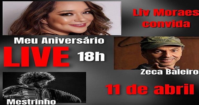 Liv Moraes faz live em comemoração ao seu aniversário neste sábado