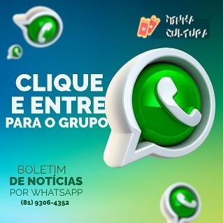 Clique e Entre Para o Grupo - Boletim de Notícias do Minha Cultura por WhatsApp