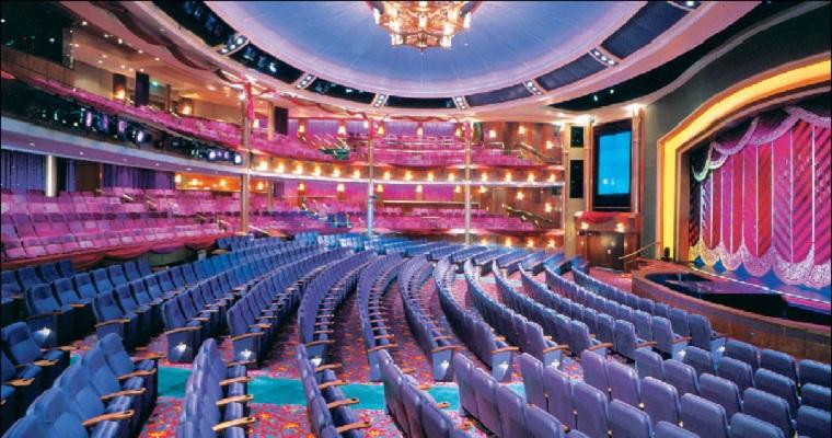 Interior de um Teatro sem ninguém.